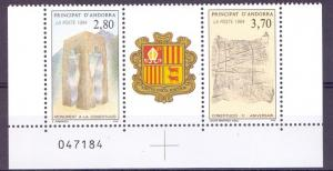 Andorra French 1994 MNH new constitution se tenant complete
