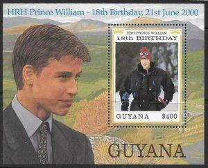 GUYANA SGMS5842 2000 18th BIRTHDAY OF PRINCE WILLIAM MNH