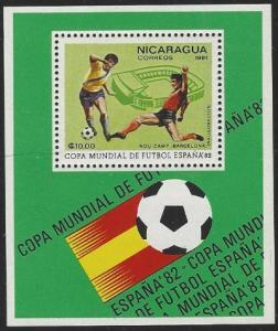 Nicaragua #1109H MNH Soccer Souvenir Sheet