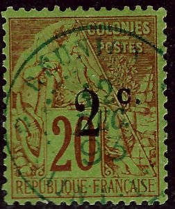 Reunion Sc #55 Used F-VF hr SCV$21...French Colonies are Hot!