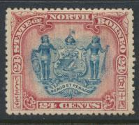 North Borneo SG 109 MH perf 13½ x 14 see details error inscription see scans