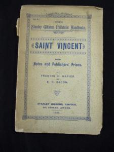 SAINT VINCENT by FRANCIS NAPIER & E D BACON / GIBBONS PHILATELIC HANDBOOK 1895