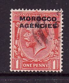 GBOA-Morocco Agencies-Sc#210-used 1p scarlet-KGV-1917-
