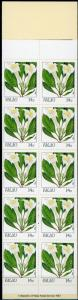 Palau #130a Flowers Full Booklet MNH