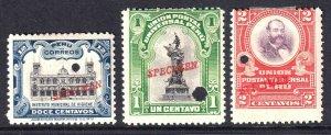 PERU 165//169 SPECIMENS OG H M/M BEAUTIFUL GUM $$$$$$$