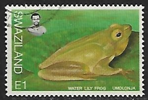 Swaziland # 678 - Water Lily Frog - used....{BRN17}