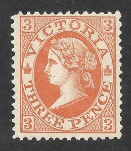 Doyle's_Stamps: 1901 VF 3d Queen Victoria Scott  #198*, Victoria, Australia