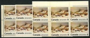 Canada USC #610p & 610pi 1972 Krieghoff Tagged - MS Corner Blocks - VF-NH