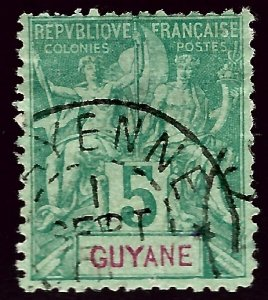 French Guiana SC#35 Used F-VF hr...Worth a Close look!!