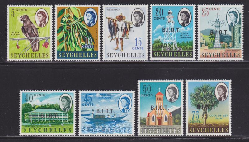 British Indian Ocean Territory 1-15 VF-MLH set nice colors scv $ 46 ! see pic !