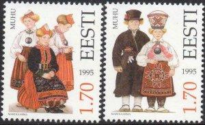 Estonia MNH 286-7 Natives In Costumes 1995
