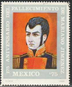 MEXICO 1447 175th Death Ann Heroes of Independence USED VF (1235)