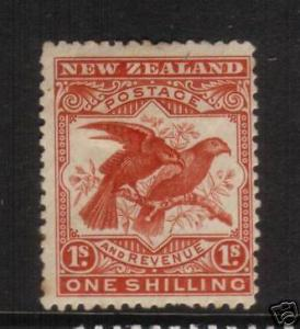 NEW ZEALAND 1898 1/-  PICTORIAL MH SG 257