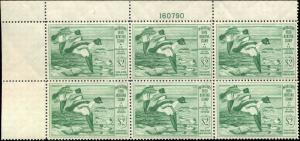 RW16 1949 FEDERAL DUCK STAMP PLATE BLOCK  VF NH PRICED AT WHOLESALE  pb14
