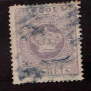 Angola Scott 7 perf 1.5 Used Crown stamp