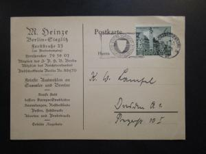 Germany 1941 Postcard w/ Event Cancel / Willy Lampel / Corner Creases - Z6369