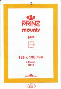 PRINZ BLACK MOUNTS 165X190 (4) RETAIL PRICE $10.50