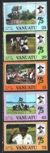 Vanuatu. 1982. 635-39. Scouts. MNH.