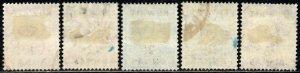 1948-49 Kuwait Sg 65/70 Short Set of 4 Values Kuwait Overprint Mounted Mint/Used