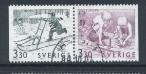 Sweden 1737 - 8 Used Attached Pair (3