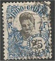 INDO-CHINA, 1907, used 25c, Cambodian girl Scott 48