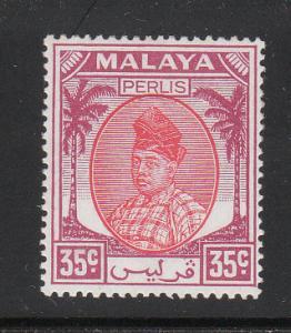 Malaya Perlis 1951 Sc 27 35c MH