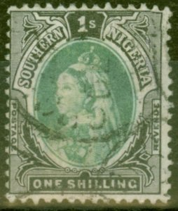 Southern Nigeria 1901 1s Green & Black SG6 Good Used