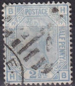 Great Britain #68 Plate 19  Used  CV $60.00 (K2120)