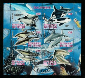 Fish, Dolphins, Chad, (3106-T)