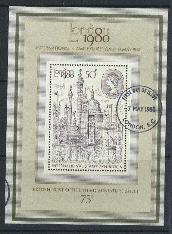 GB SG MS1119 SC# 909a - Used First Day Cancel - Stamp Exhibition