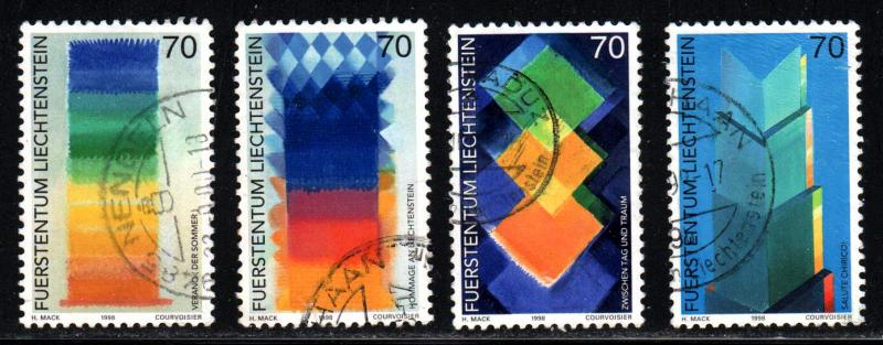 Liechtenstein # 1113-16 ~ Cplt Set of 4 ~ Used, HMR ~ cv 3.80