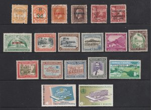Samoa a small lot of mainly mint earlies