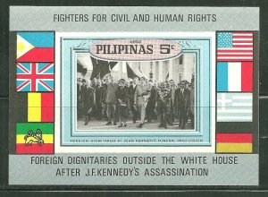 Philippines MNH S/S John F. Kennedy Funeral March