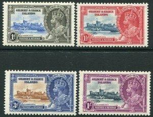 GILBERT & ELLICE ISLANDS-1935 Silver Jubilee Set Sg 36-39 MOUNTED MINT V32957