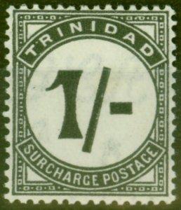 Trinidad 1945 1s Black SGD25 Fine Lightly Mtd Mint