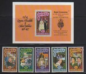 Antigua MNH S/S & 5 Stamps 459-64 Royal Family