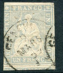 SWITZERLAND ~ #31 Nice Used Issue 3 Margins CDS CREASE ~ S5333
