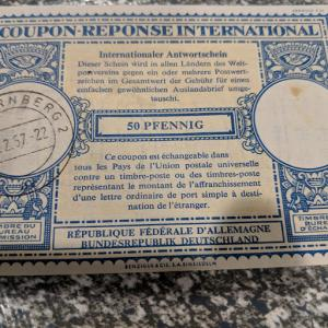 Germany Reply Coupon VF, CV $10