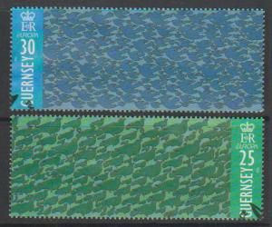 Guernsey SG 678 - 679 Used with First Day cancel