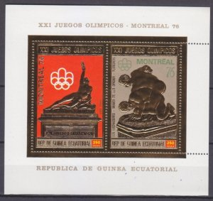 1976 Equatorial Guinea 795-796/B213gold 1976 Olympic Games in Montreal 17,00 €