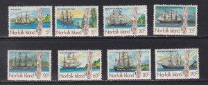 Norfolk Island, # 356-363, Whaling Ships, NH, 1/2 Cat.