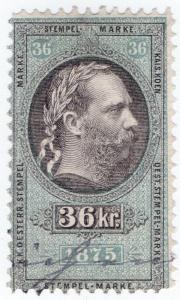 (I.B) Austria/Hungary Revenue : Stempelmarke 36kr