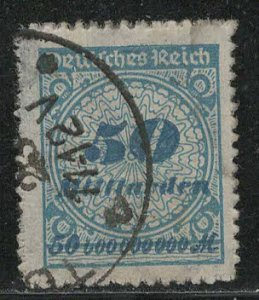 Germany Reich Scott # 309, used, exp h/s