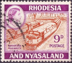 RHODESIA & NYASALAND 1962 9d Orange-Brown & Reddish-Violet SG24a