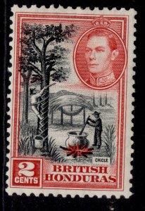 BRITISH HONDURAS GVI SG151, 2c black & scarlet, M MINT.