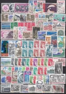 France -  1974/1985  stamp lot - (2967)
