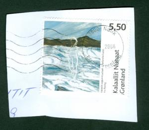 Greenland.  Stamp On Paper 2008  Modern Art II Kr. 5.50
