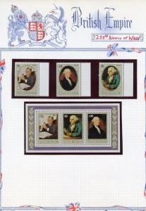 GEORGE WASHINGTON 250th BIRTH  LOT  OF STAMPS AND SOUVENIR SHEETS MINT NH