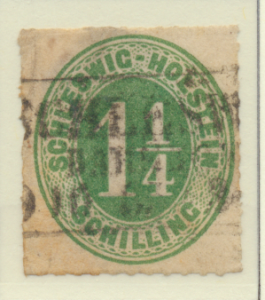 Schleswig-Holstein (German State) Stamp Scott #4, Used, Paper Remnants - Free...
