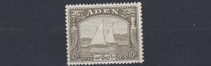 ADEN  1937  S G 12  10R  OLIVE GREEN  MNH